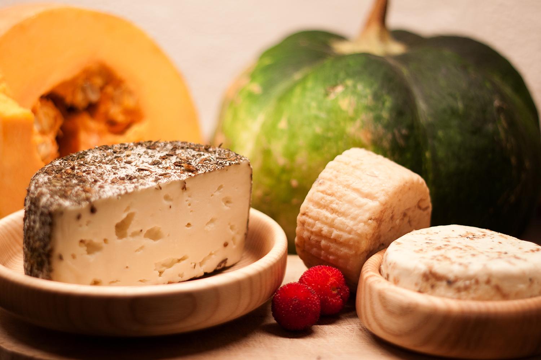 zucche e formaggi